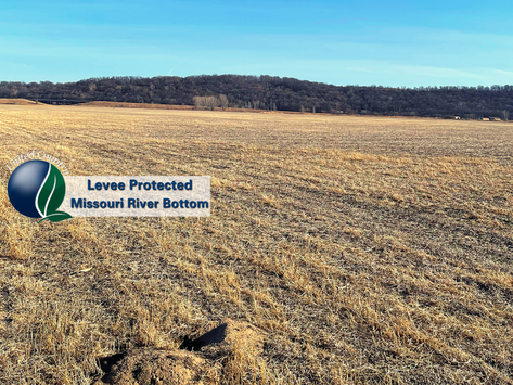 UNDER CONTRACT - Missouri River Bottom Row Crop Farm -- Levee Protected