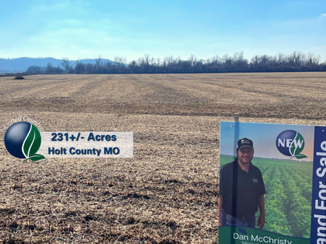 SOLD: High Quality Missouri River Bottom Land - South of Forest City MO