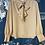 Thumbnail: LATTE tie neck blouse
