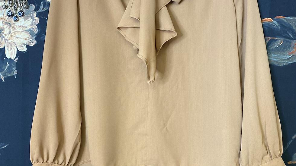 LATTE tie neck blouse