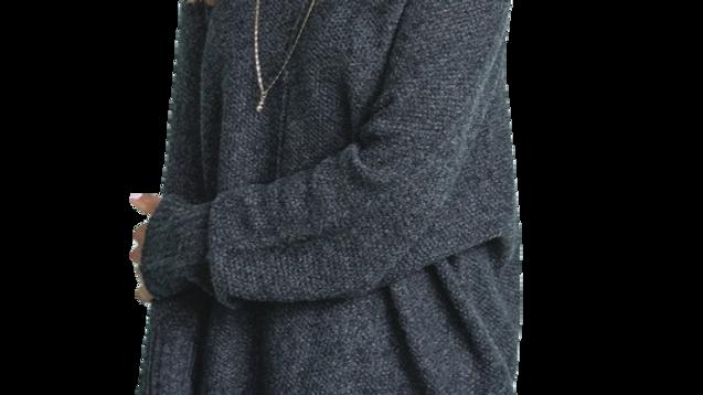 TOURMALATED QUARTZ slouchy v neck sweater