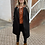 Thumbnail: POINSETTIA fleece long blazer/sweater/coat
