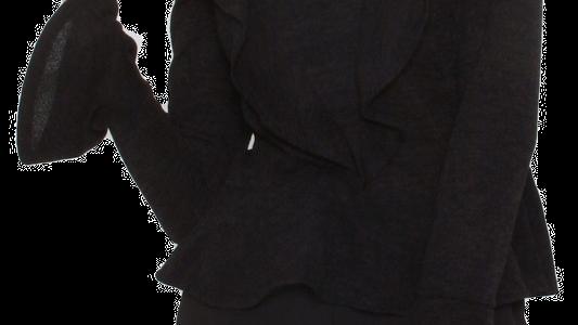 TOURMALINE knit ruffle top