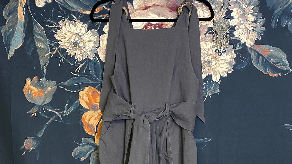 CHARCOAL BELTED OVERALLS