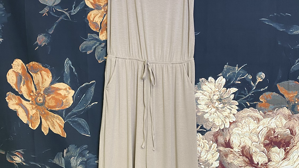 PLUS ASH MOCHA SLEEVELESS ROMPER