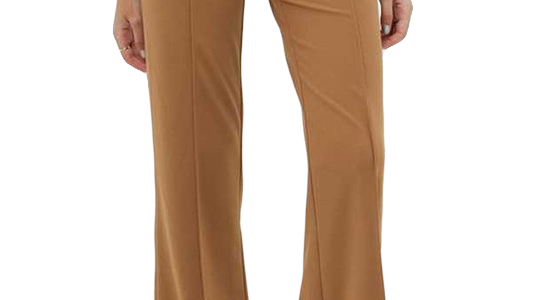 TIGER'S EYE HIGH WAIST STRETCH FLARE TROUSER