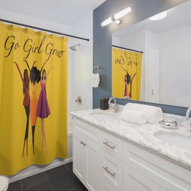 Go Girl Grow Shower Curtains
