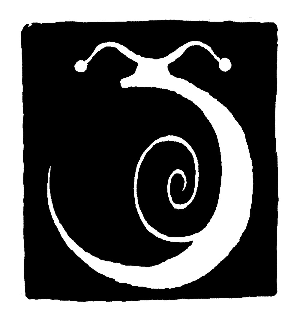 """New Logo of the project, abkind of mystic snail made kindly by Nicolo Pelizzon who has already make the cover of the album """"Futurition""""."""