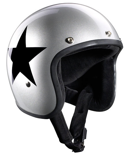 Шлем BANDIT Jet Star Silver