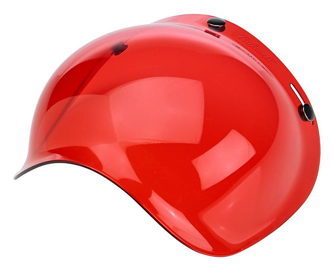 Визор Biltwell Bubble Shield - Red Solid Antifog