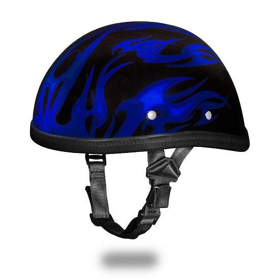 Шлем EAGLE- W/ FLAMES BLUE