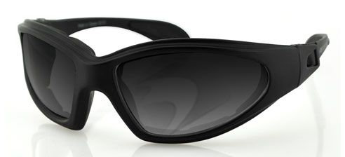 Bobster GXR Sunglasses with Strap Black w/Smoke Lens