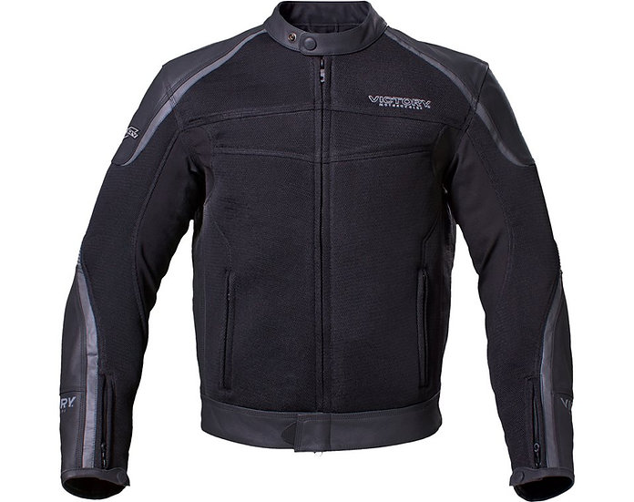 Куртка MEN'S LEATHER MESH HYBRID JACKET - BLACK