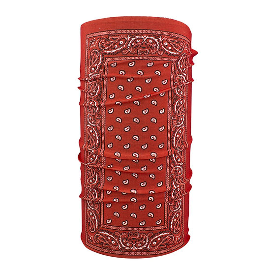 MOTLEY TUBE #T106 PAISLEY RED