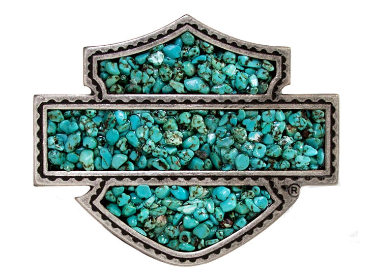 Пряжка Harley-Davidson® Womens Sweet Zone Turquoise Stones Turquoise Buckle