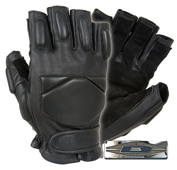 Перчатки Damascus DRE10 Responder Leather Half-Finger Fast Roping Gloves