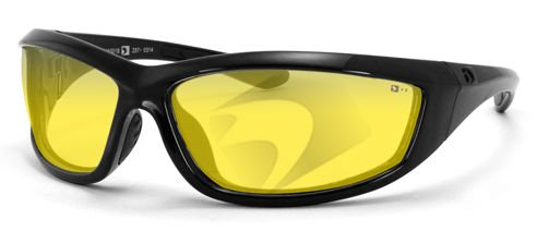 Bobster Charger Sunglasses Black w/Yellow Lens