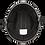 Thumbnail: Шлем SMOKEY W/O SNAPS- HI-GLOSS BLACK