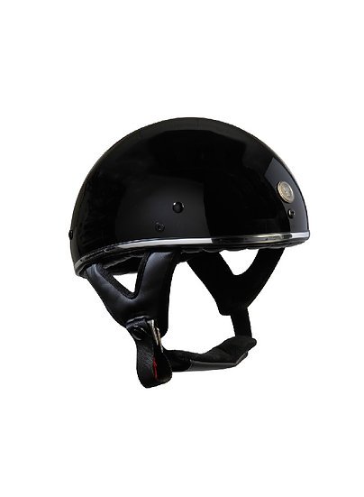 Шлем TORC T-5 HALF SHELL GLOSS BLACK CHROME