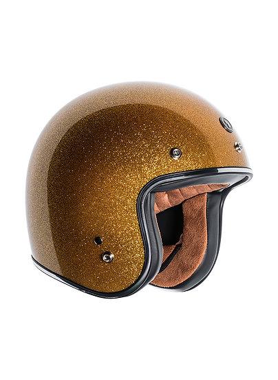 Шлем TORC T-50 3/4 RETRO GOLD MEGA FLAKE