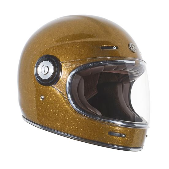 Шлем TORC T-1 FULL FACE RETRO MEGA FLAKE GOLD