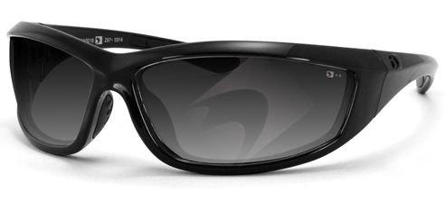 Bobster Charger Sunglasses Black w/Smoke Lens