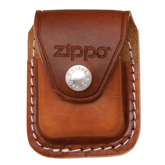 Чехол для зажигалки Zippo Leather Lighter Pouch Brown w/Belt clip