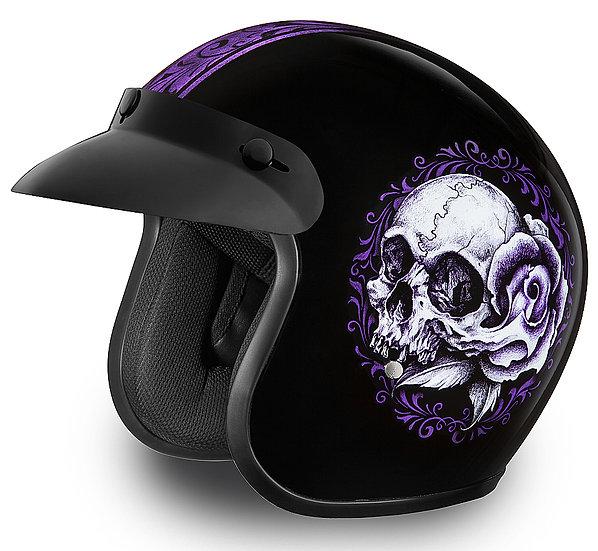Шлем D.O.T. DAYTONA CRUISER-FLORAL SKULL