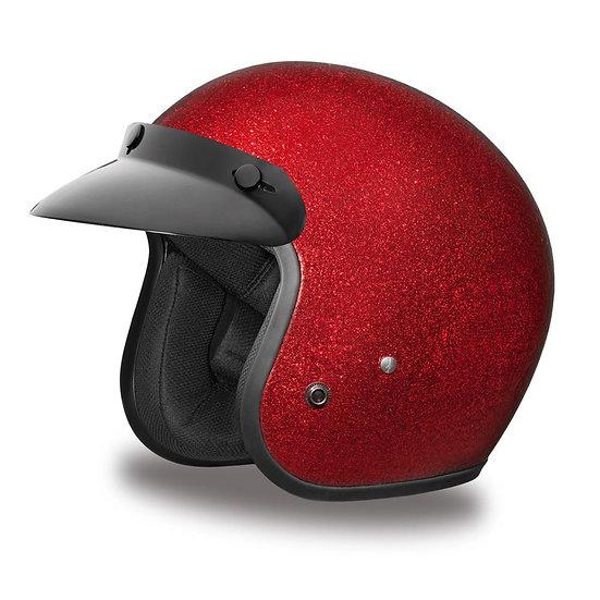 Шлем D.O.T. DAYTONA CRUISER- RED METAL FLAKE