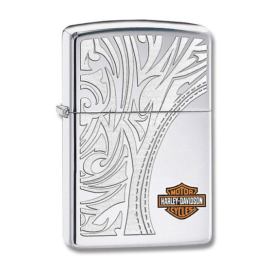 Зажигалка Zippo Harley-Davidson Bar & Shield High Polish Chrome Lighter