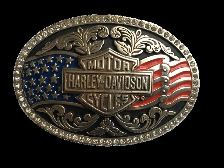Пряжка Harley-Davidson® Womens Patriot American Flag with B&S Buckle