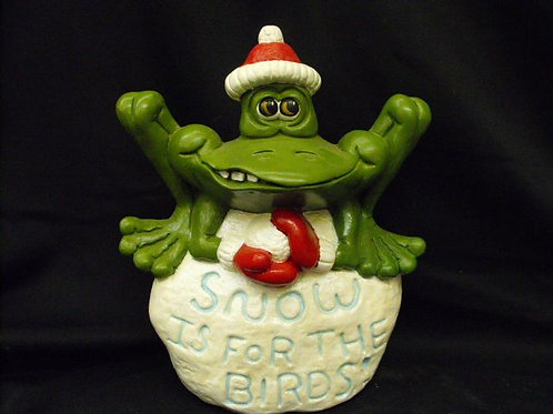 """Snow is for the Birds"" frog"