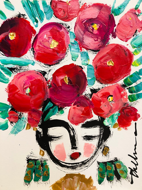 Fiesta Flowers - Original on paper