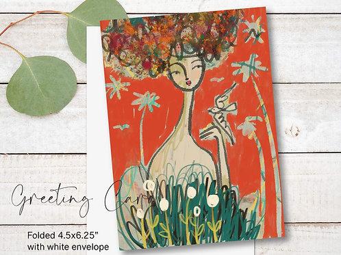 Greeting Card Print - Claudia