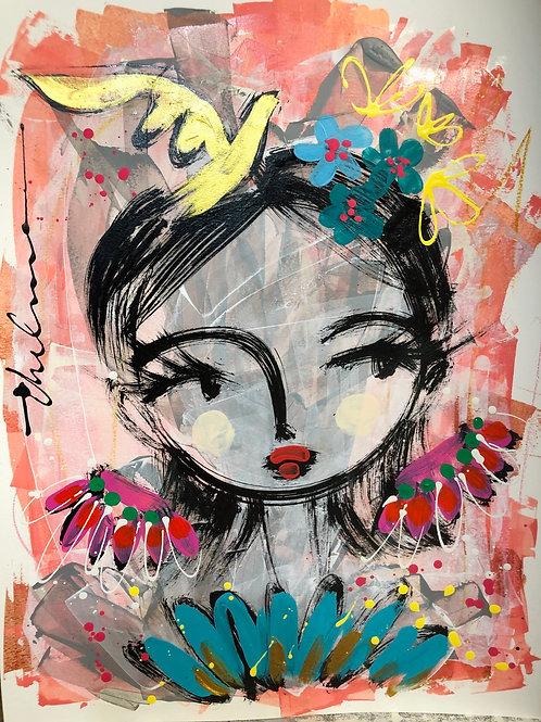 Lovely Bird - Original on paper