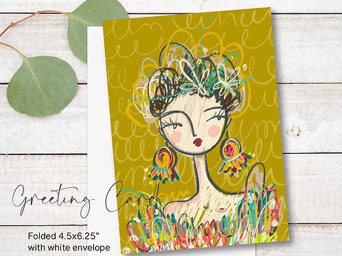 Greeting Card Print - Bella