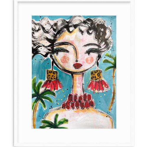 Tropical Earrings - Fine Art Print Framed