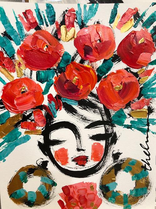 Celebration Flowers - Original on paper