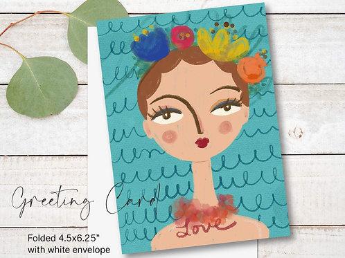 Greeting Card Print - Georgina