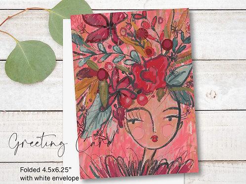 Greeting Card Print - Flora