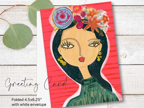 Greeting Card Print - Lucrecia