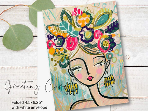 Greeting Card Print - Sandra