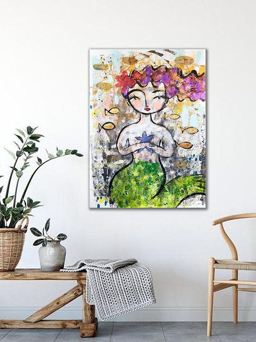 Mermaid's Magic - Large Print on canvas