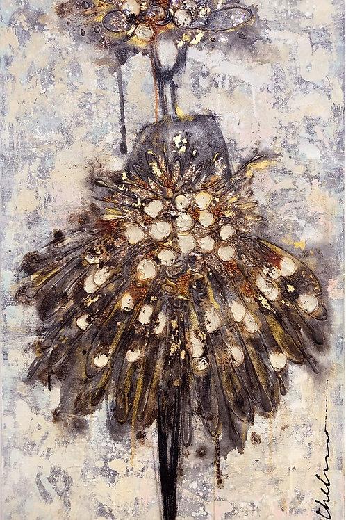 She belongs among Flowers - Original on canvas