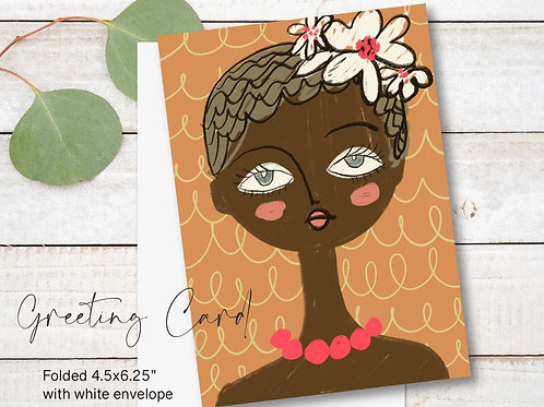 Greeting Card Print - Tania