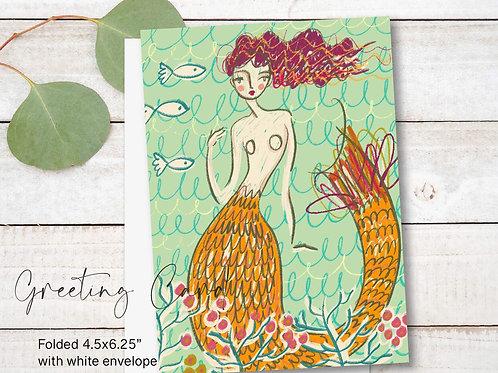 Greeting Card Print - La Sirena