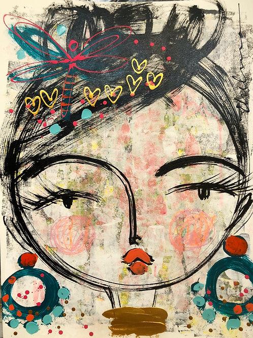 Love in her head - Original on paper