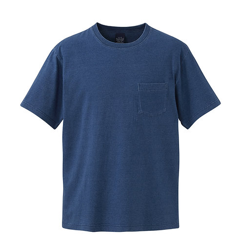 5.3オンス インディゴ Tシャツ(ポケット付)【3991-01】(無地価格)
