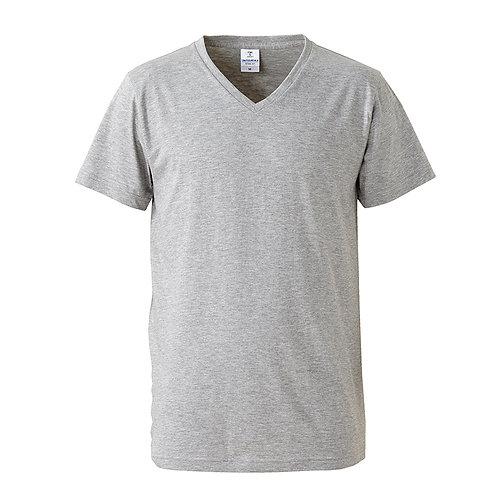 4.7オンス ファインジャージー Vネック Tシャツ【5746-01】(無地価格)