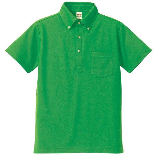 5.3オンス ドライカノコ ユーティリティー ポロシャツ(ボタンダウン)(ポケット付)【5051-01】(無地価格)